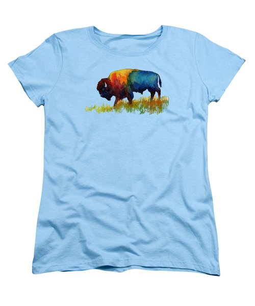 American Buffalo IIi Women's T-Shirt (Standard Cut) by Hailey E Herrera