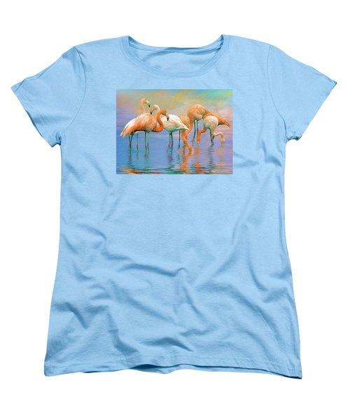 American Flamingos Women's T-Shirt (Standard Cut) by Brian Tarr