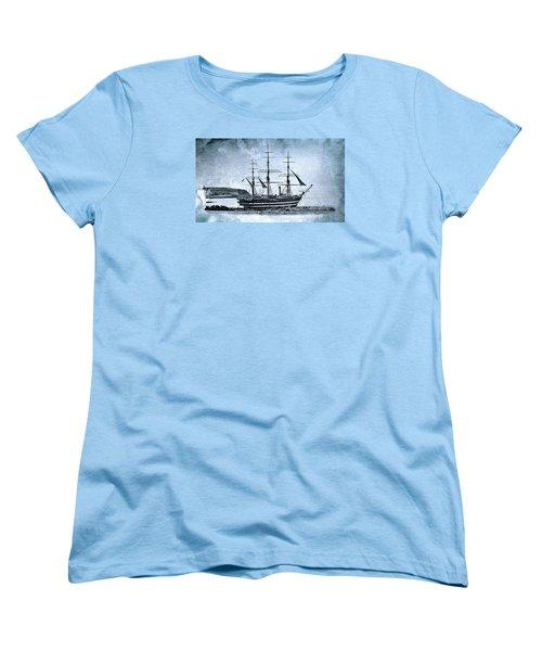 Amerigo Vespucci Sailboat In Blue Women's T-Shirt (Standard Cut)