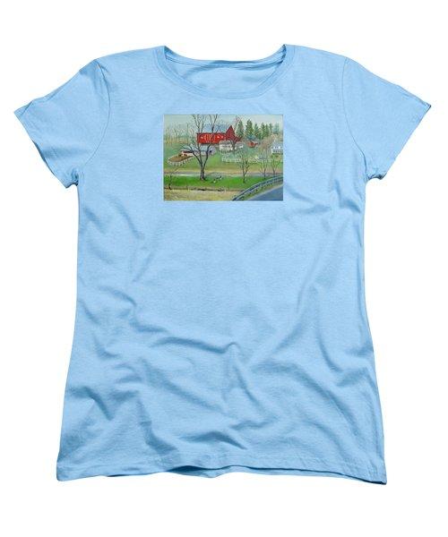 Amish Farm Women's T-Shirt (Standard Cut)