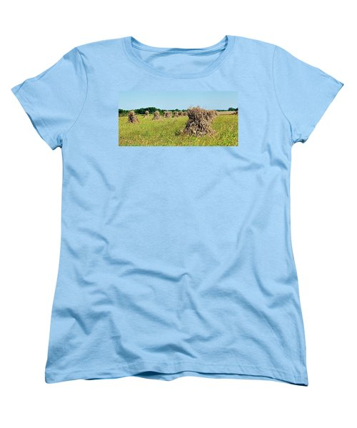 Women's T-Shirt (Standard Cut) featuring the photograph Amish Harvest by Cricket Hackmann