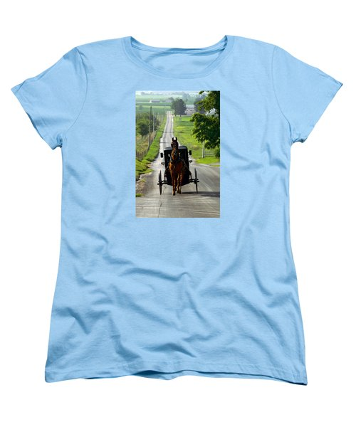 Amish Morning Commute Women's T-Shirt (Standard Cut) by Lawrence Boothby