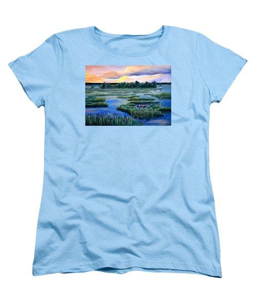 Amongst The Reeds Women's T-Shirt (Standard Cut) by Renate Nadi Wesley