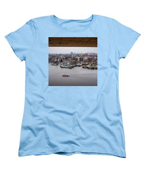 Amsterdam Skyline Women's T-Shirt (Standard Cut) by Aleck Cartwright