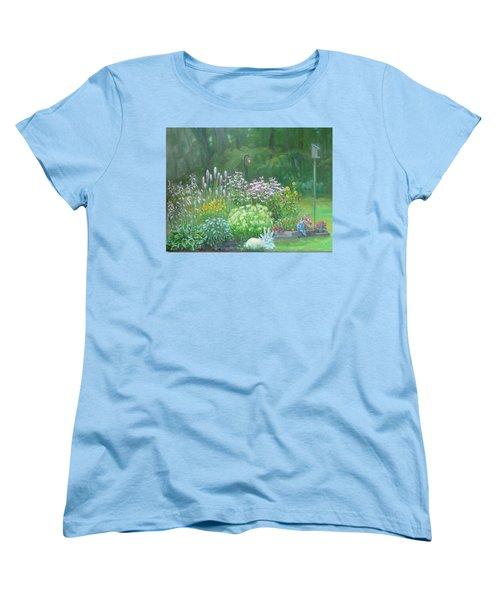 An Angel In My Garden Women's T-Shirt (Standard Cut) by Bonita Waitl