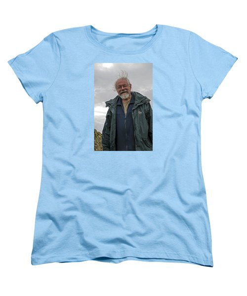 Women's T-Shirt (Standard Cut) featuring the photograph An Englishman In Castlerigg, Uk by Dubi Roman