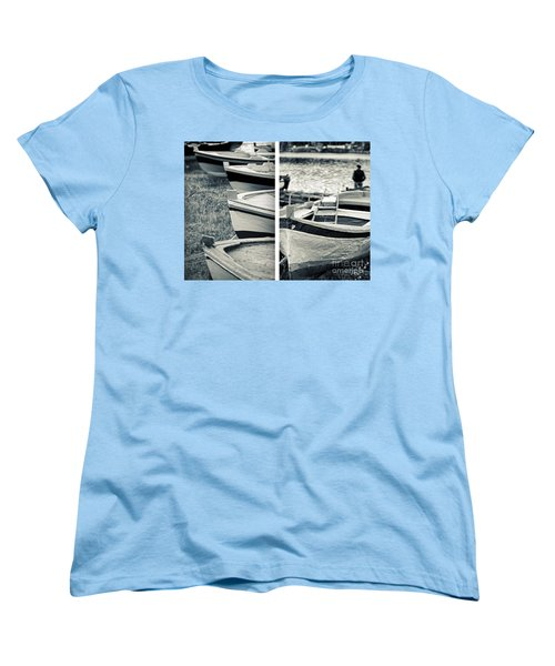 An Old Man's Boats Women's T-Shirt (Standard Cut) by Silvia Ganora