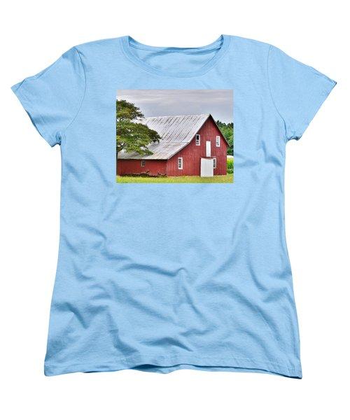 An Old Red Barn Women's T-Shirt (Standard Cut)