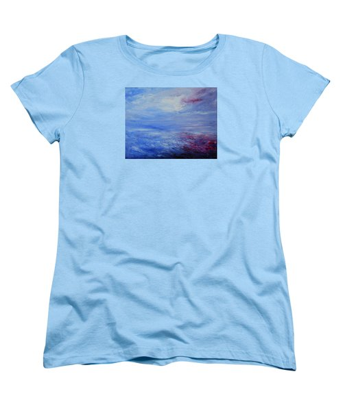 Women's T-Shirt (Standard Cut) featuring the painting An Unspoken Message by Jane See