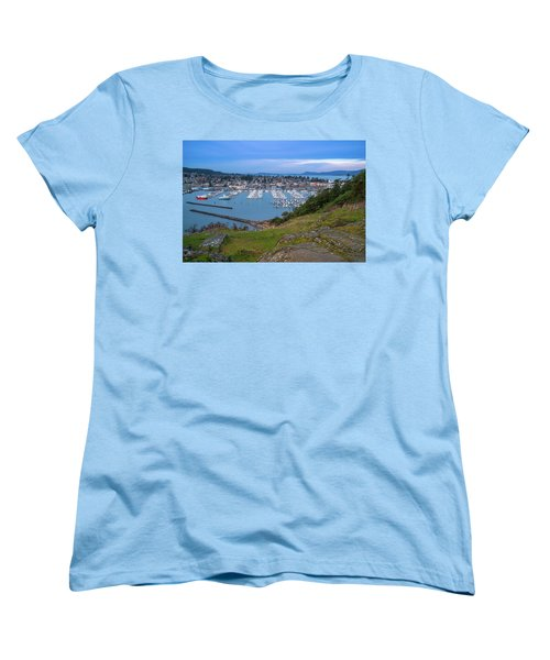 Anacortes Peaceful Morning Women's T-Shirt (Standard Cut) by Ken Stanback