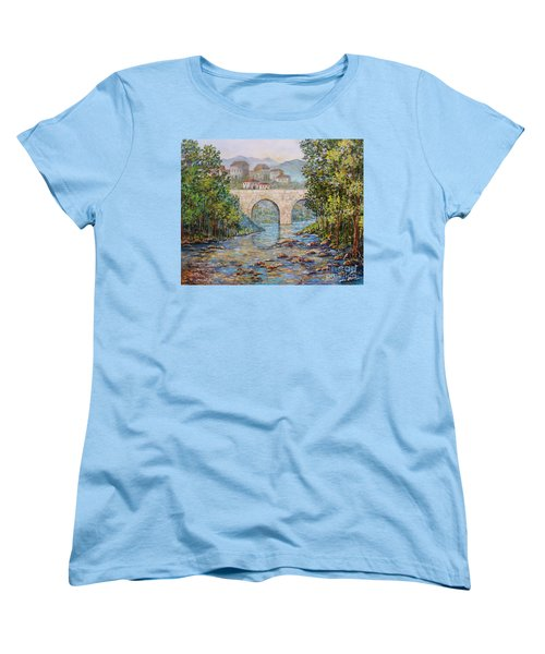 Ancient Bridge Women's T-Shirt (Standard Cut) by Lou Ann Bagnall
