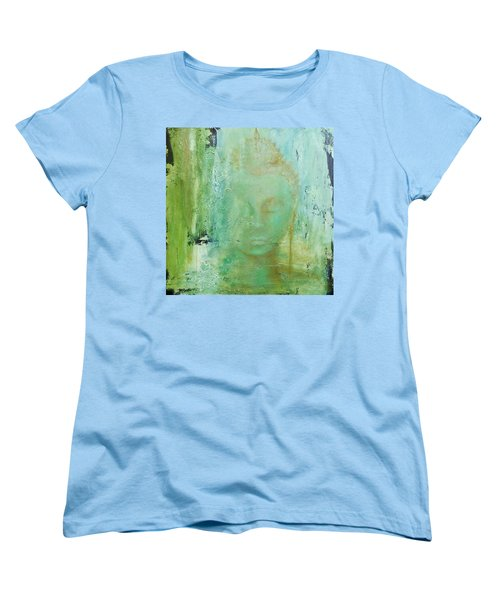 Women's T-Shirt (Standard Cut) featuring the painting Ancient Buddha by Dina Dargo