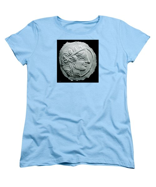 Women's T-Shirt (Standard Cut) featuring the relief Ancient Greek Relief Seal Drawing by Suhas Tavkar