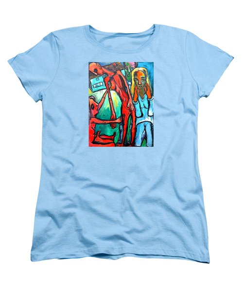 Women's T-Shirt (Standard Cut) featuring the painting And Remember To Be Kind by Kenneth Agnello