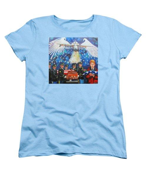 Angel Flight Women's T-Shirt (Standard Cut) by Ken Pridgeon