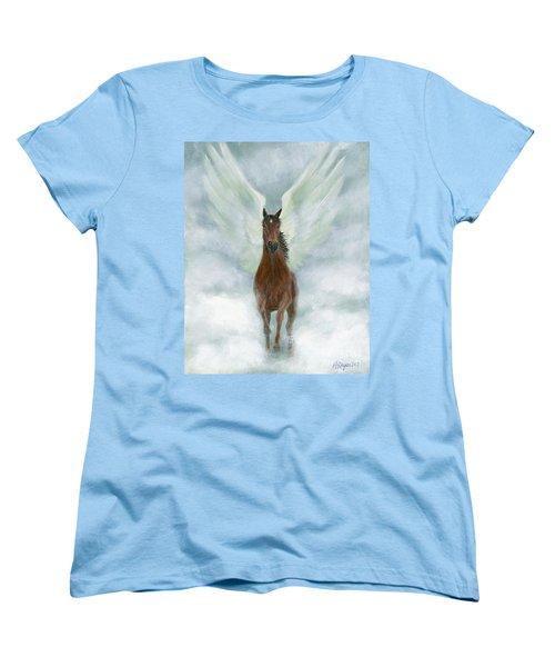 Angel Horse Running Free Across The Heavens Women's T-Shirt (Standard Cut)