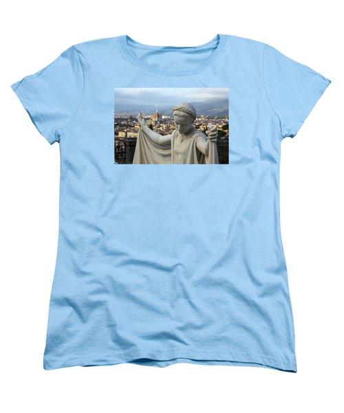 Women's T-Shirt (Standard Cut) featuring the photograph Angel Of Firenze by Sonny Marcyan