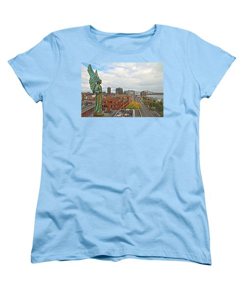 Angel Of Old Montreal Women's T-Shirt (Standard Cut) by Alice Gipson