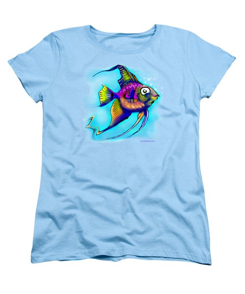 Angelfish Women's T-Shirt (Standard Cut) by Kevin Middleton