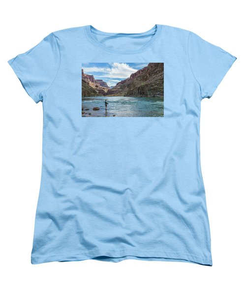 Angling On The Colorado Women's T-Shirt (Standard Cut) by Alan Toepfer