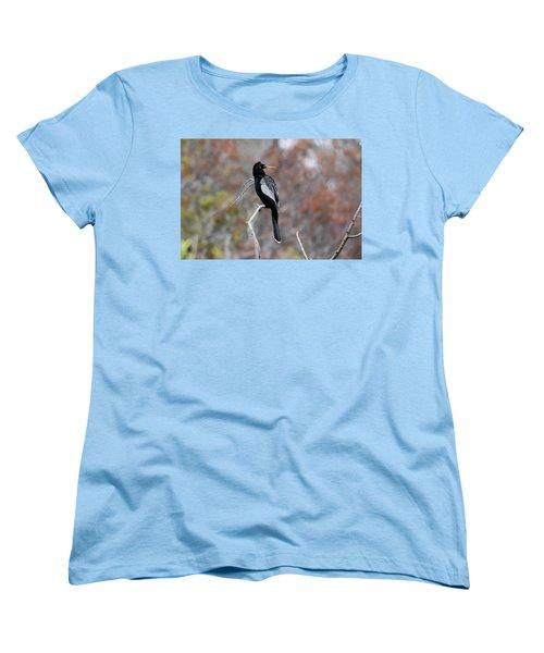 Women's T-Shirt (Standard Cut) featuring the photograph Anhinga by Gary Wightman