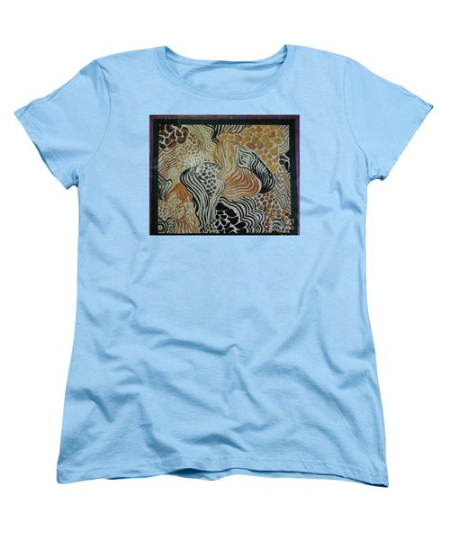 Animal Print Floor Cloth Women's T-Shirt (Standard Cut) by Judith Espinoza
