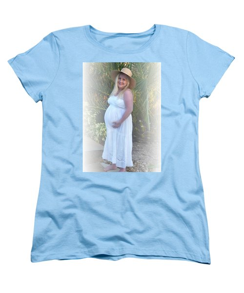 Annah In White Dress And Hat Women's T-Shirt (Standard Cut) by Ellen O'Reilly