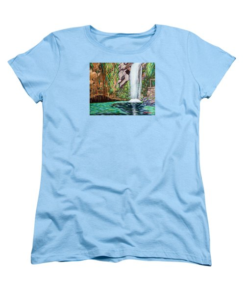 Annandale Waterfall Women's T-Shirt (Standard Cut) by Laura Forde