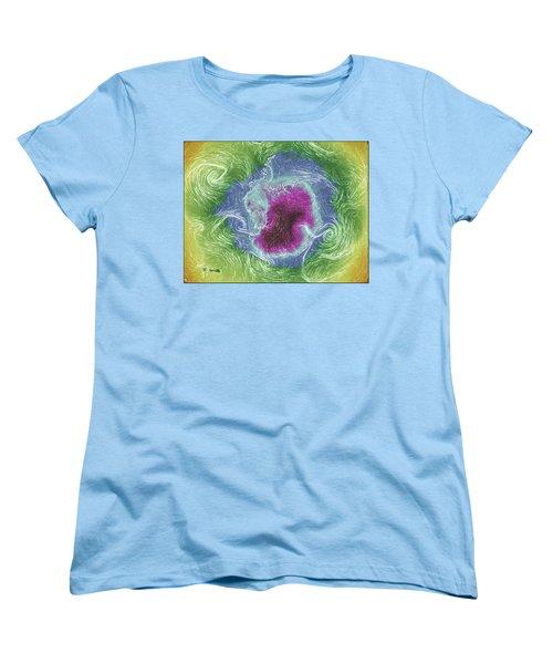 Antarctica Abstract Women's T-Shirt (Standard Cut) by Geraldine Alexander