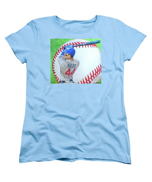 Anthony Rizzo 2016 Women's T-Shirt (Standard Cut) by Melissa Goodrich