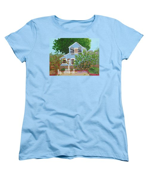 Women's T-Shirt (Standard Cut) featuring the painting Antique Shop, Cambria Ca by Katherine Young-Beck