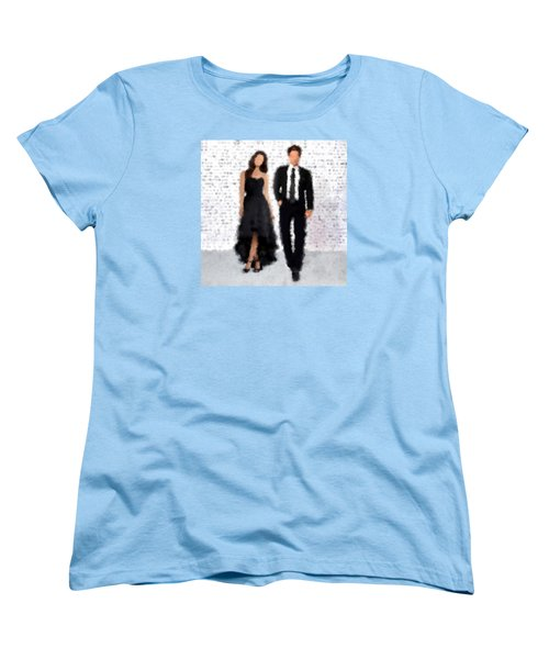 Women's T-Shirt (Standard Cut) featuring the digital art Antonia And Giovanni by Nancy Levan