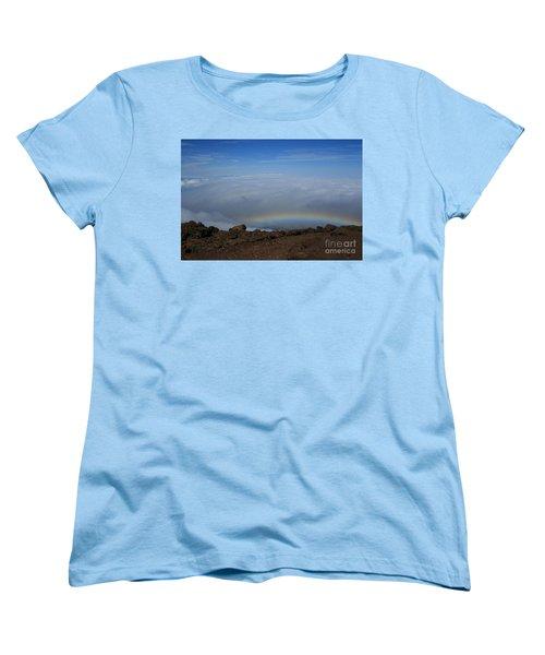 Anuenue - Rainbow At The Ahinahina Ahu Haleakala Sunrise Maui Hawaii Women's T-Shirt (Standard Cut)