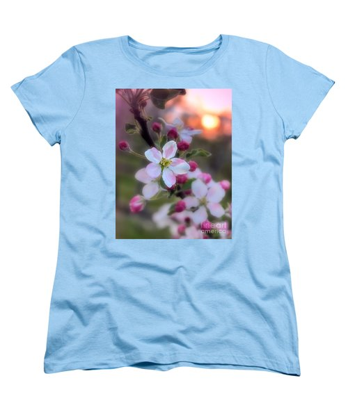 Apple Blossom Sunrise Women's T-Shirt (Standard Cut) by Henry Kowalski
