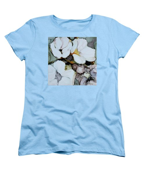 Women's T-Shirt (Standard Cut) featuring the painting Apple Blossoms by Joanne Smoley