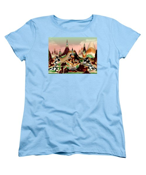 Women's T-Shirt (Standard Cut) featuring the photograph Apple Land Countryside by Barbara Tristan