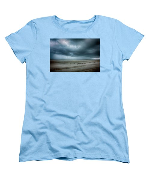 Approaching Storm On Ocracoke Outer Banks Women's T-Shirt (Standard Cut) by Dan Carmichael