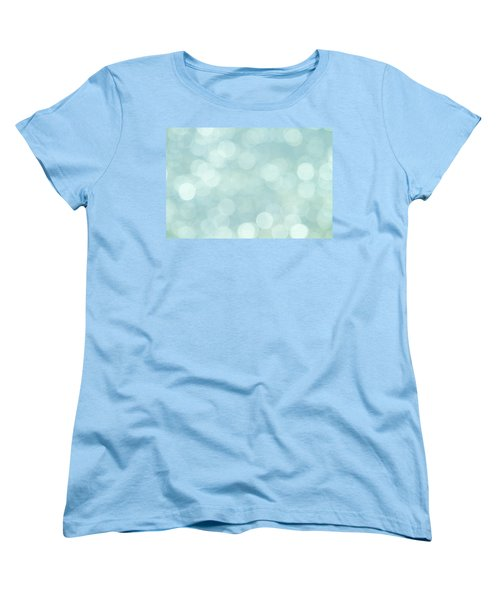 Women's T-Shirt (Standard Cut) featuring the photograph Aqua Abstract by Peggy Collins