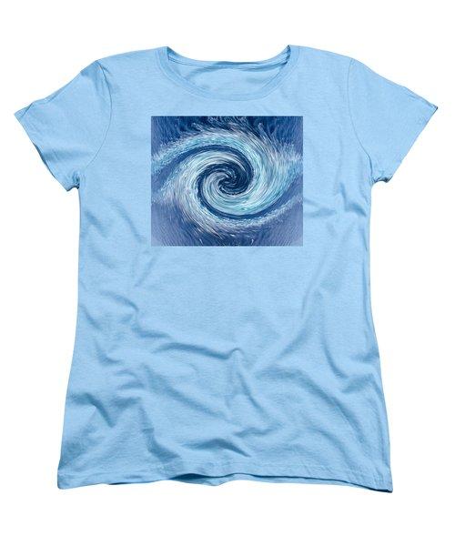 Aqua Swirl Women's T-Shirt (Standard Cut) by Keith Armstrong