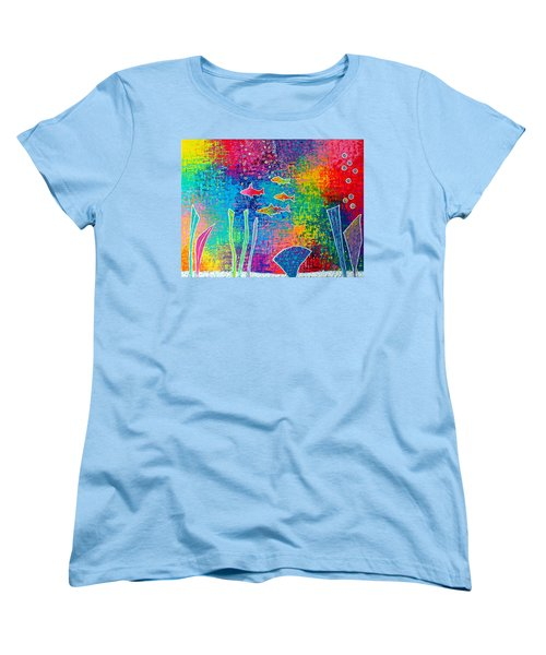 Aquarium Women's T-Shirt (Standard Cut) by Jeremy Aiyadurai