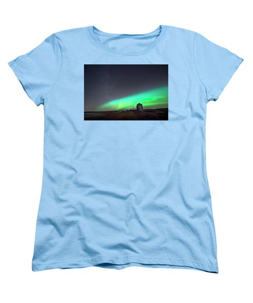 Arc Of The Aurora Women's T-Shirt (Standard Cut) by Dan Jurak