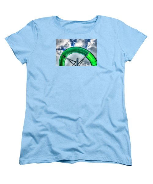 Arc Of The Water Slide Women's T-Shirt (Standard Cut) by Gary Slawsky