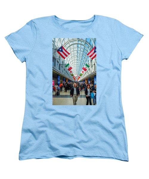 Arcade Of Flags Women's T-Shirt (Standard Cut) by John McArthur