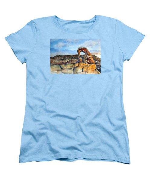 Arches National Park Women's T-Shirt (Standard Cut) by Debbie Lewis