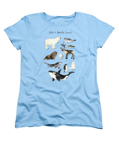 Arctic And Antarctic Animals Women's T-Shirt (Standard Cut)