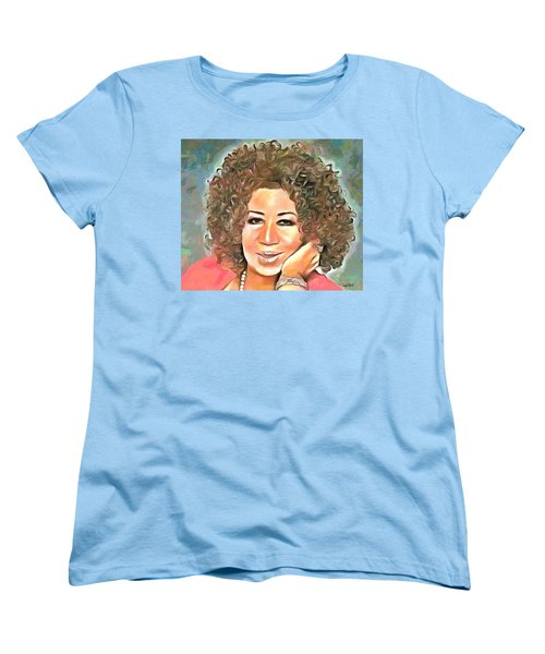 Aretha Franklin Women's T-Shirt (Standard Cut) by Wayne Pascall