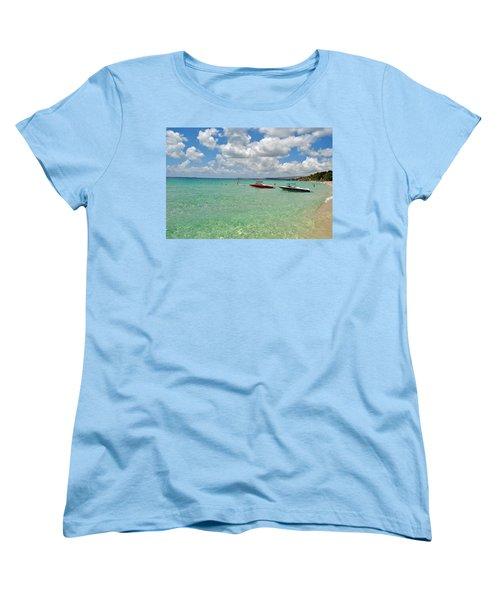 Argostoli Greece Beach Women's T-Shirt (Standard Cut) by Robert Moss