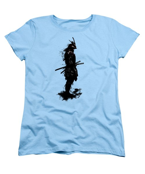 Women's T-Shirt (Standard Cut) featuring the mixed media Armored Samurai by Nicklas Gustafsson