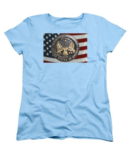 Women's T-Shirt (Standard Cut) featuring the photograph Army Proud by Myrna Bradshaw