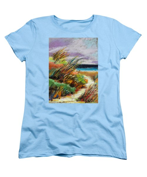 Women's T-Shirt (Standard Cut) featuring the painting Around The Dune by John Williams